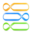 Abstract Infinity Symbols vector image