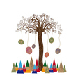 Isolated art tree concept vector image