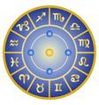 zodiac signs horoscope symbols circle vector image