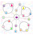 Social network background with media icons vector image vector image