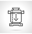 Coffee mill line icon vector image