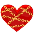 Heart in chain vector image