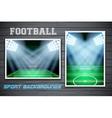 Set Backgrounds of football stadium vector image