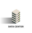data center icon symbol vector image