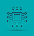 icon computer processor for quick work vector image