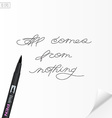 Motivation hand written quote All comes from vector image