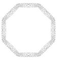 round frame for coloring decorative vector image