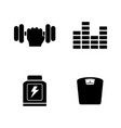 training simple related icons vector image