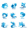 waves splash and ocean or sea liquid vector image