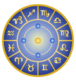 zodiac signs horoscope symbols circle vector image