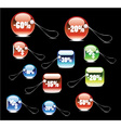 set of shopping tags and stickers vector image