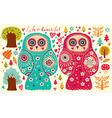 Owl Couple vector image vector image