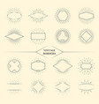 Vintage beauty sun rays borders or retro circles vector image