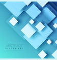 blue background with geometric square shapes vector image
