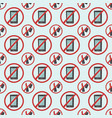 stop signs seamless pattern prohibitive stop vector image