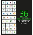 Mega collection of business icons vector image vector image