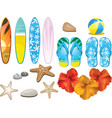 beach and tropical elements vector image