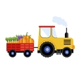 Farm tractor on white background icon vector image