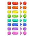 Funny cartoon colorful buttons vector image