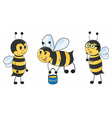 Bee set vector image