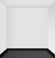 Empty corner in the room - vector image