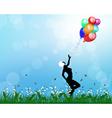 girl balloon vector image