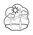 line windpower industries to healp the environment vector image