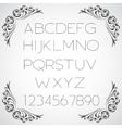 Linear alphabet set vector image