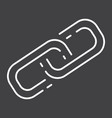 link building line icon seo and development vector image