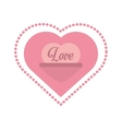 love heart message frame dots vector image