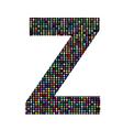 multicolor letter Z vector image
