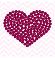 Pink heart pattern made of roses vector image