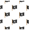 pirate flag pattern flat vector image