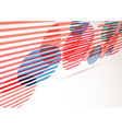 Retro red circles perspective abstract background vector image