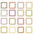 square autumn frames vector image