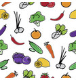 vegetable pattern seamless background vector image
