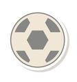 soccer balloon sport icon vector image