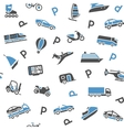 Seamless background transport icons - wrapping vector image