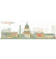 Abstract Washington DC Skyline vector image