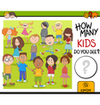how many kids activity game vector image