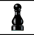 Black Chess Pawn vector image vector image