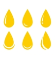 oil drop set vector image