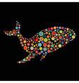 whale shape vector image