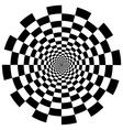 Chequer board circular tunnel vector image vector image