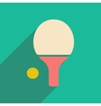 Flat with shadow icon and mobile applacation ping vector image