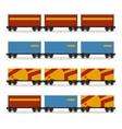 Containers on a Railway Container Platform vector image