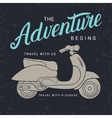 The adventure begins poster with scooter vector image