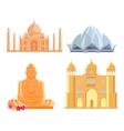 Set Indian Architectural Landmarks vector image vector image