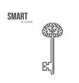 Abstract Key with Handle like Brain vector image