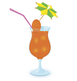 alcohol cocktail with umbrella vector image